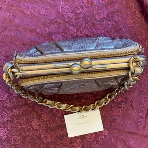 Coach Clutch Wallet Genuine Leather Rose Gold